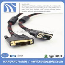 5 pies DVI 24 + 1 a 15pin VGA M / M Cable para DVD LCD HDTV PC 1080P