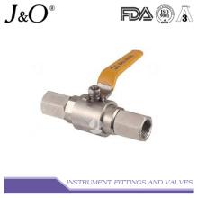 Válvula de esfera de calibre de pressão de aço inoxidável