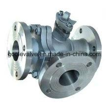 Válvula de bola da maneira do aço de molde três com L porta / porto de T (GAQ44F / GAQ45F)