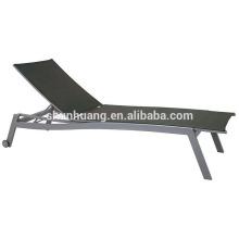 Aluminum garden furniture sun lounger balcony chaise lounge with wheels