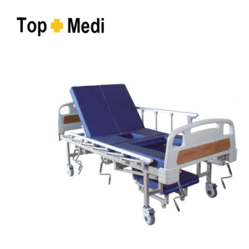 Topmedi Hospital Furniture Cama de hospital de acero de cinco funciones
