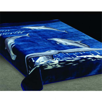 Warm and Soft Polyester Animal Printed Mink Fleece Blanket from Nanjing