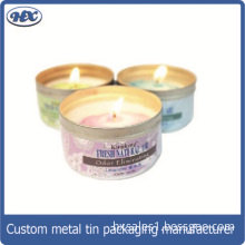 Candle gift metal box