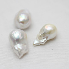 13-15mm Aaaa Quality White Baroque Nucleated Loose Pearls Wholesale