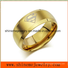 Bague à bijoux populaires en acier inoxydable en or blanc Shineme (SSR2770)