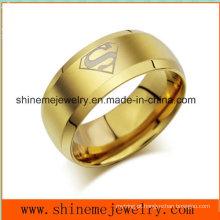 Shineme Jóias de aço inoxidável dourado anel de jóias populares (SSR2770)