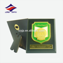 Popular green custom logo wooden wall award plaque