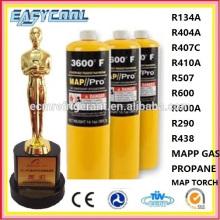 EN12205 14.1oz mapp gas can, small propane gas cylinder, 1L butane gas tank