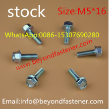 Hex Washer Head Machine Screw Bolts