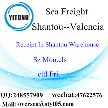 Shantou Port LCL Consolidation To Valencia