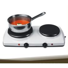 2 placa quente portátil do fogão elétrico do queimador para a venda
