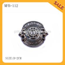 MFB112 Mode entfernen Jeans Metall Logo-Taste
