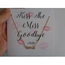 Valentine′s jour collier & boucle d'oreille avec la carte-cadeau