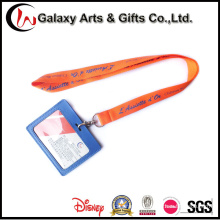Polyester Material PU Leather ID Card Neck Strap