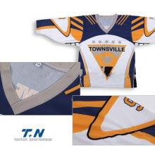 Jerseys de encargo baratos baratos del hockey sobre hielo de la sublimación / engranaje barato del hockey