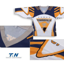 Alta qualidade barata Custom Sublimation Ice Hockey Jerseys / baratos Hockey Gear