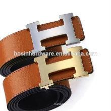 Мода Высокое качество металла Brushed Finish H Форма пояса пряжки