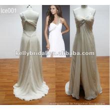 Spezielle neuartige eine Schulter Perlen Brautjungfer Kleid Chiffon bodenlangen Abendkleid