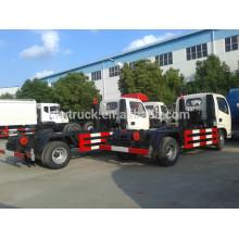 Venta caliente Dongfeng carro de basura hidráulico del brazo, 3-4m3 camión de la basura para la venta