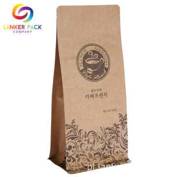 ECO Friendly Custom Kraft Paper do pakowania kawy