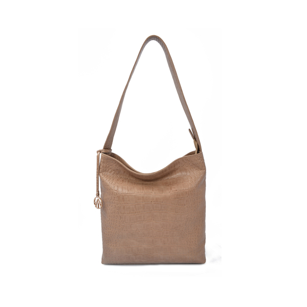 Embossed Real Leather Bucket Bag Women Hobo bags
