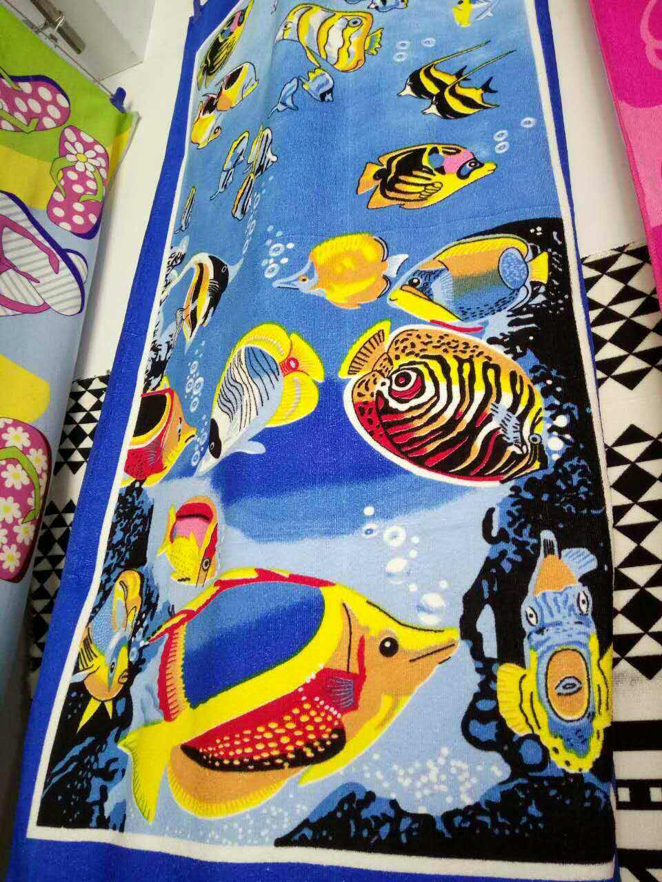 Sea Fish Printed Beach Towels