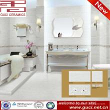 hermosa decoración de porcelana de pared y piso de azulejos para el diseño del baño