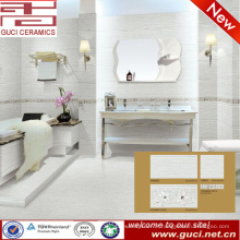 carreaux de mur et de plancher de porcelaine de décoration magnifique pour la conception de salle de bains