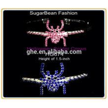 Nouveaux motifs strass bon marché à grand prix couronne tiare princesse tiare couronne et baguette tiara couronne plein ronde tiaras