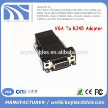 Female VGA Extender Adapter a CAT5 / CAT6 / RJ45 Conector de Cable