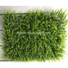 Tapis artificiel de feuillage de 40 * 60cm bon marché pour la décoration verticale de mur