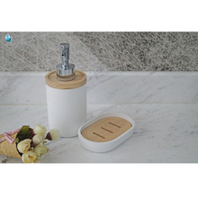 Wholesale hotel polyresin bathroom set, polyresin bath accessory set