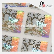 hot stamping hologram label for pvc card
