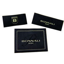 Satin / Cotton Clothing Woven Labels With Customized Logo / Color / Shape