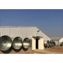 Estructura de acero galvanizado en caliente DIP Pollo Casa / granja de aves de corral (KXD-SCH1502)