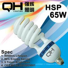 65W T5 haute puissance moitié spirale AC220V-240V/110-130V