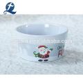 Custom Logo Mini Stoneware Baking Tray Round Ceramic Bread Baking Dishes
