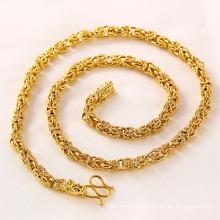 Последние 24k Золотое ожерелье