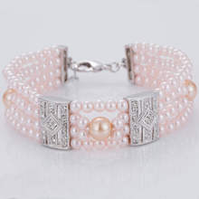 Best Price on for Womens Cuff Bracelet Charm Pink Faux Pearl Bracelets Bulk supply to Honduras Factory