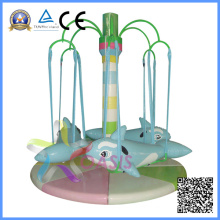 Equipo eléctrico para juegos de recreo Rotating Dolphins Playground