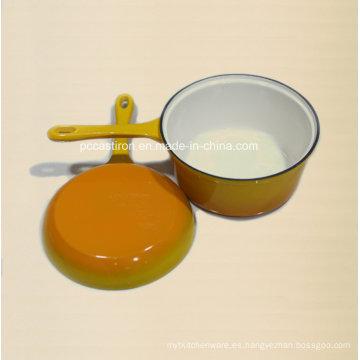 Doble uso de hierro fundido de leche pot fabricante de China