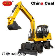 Excavadora de ruedas Jhl85 de 8.5 toneladas con cubo de 0.4 cúbicos