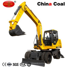 Jhl85 8.5 Ton Wheel Excavator with 0.4 Cubic Bucket