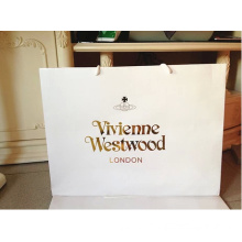 white cardboard paper customized shopping clothes shoes  paper bag with logo