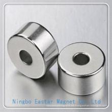 N40 D30 * D10 * imán de NdFeB anillo de galjanoplastia de níquel 12