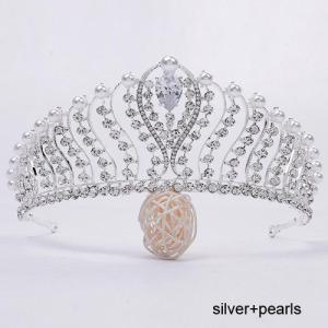 Moda venta caliente boda perla tiaras