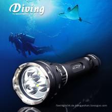 Großhandelspreis Super helle Tauch-Taschenlampe d33 max 3000 Lumen