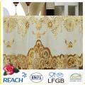 Mantel de encaje dorado de PVC