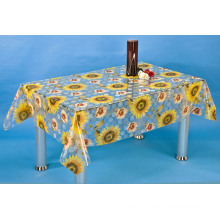 PVC Tranparent and Embossed Tablecloth (TJ3D0004B)