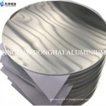 Plaque ronde en aluminium